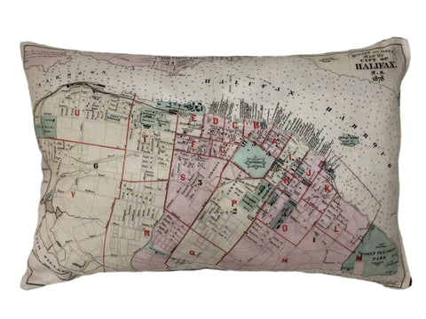 City of Halifax Vintage Map Pillow