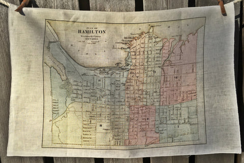 City of Hamilton Vintage Tea Towel