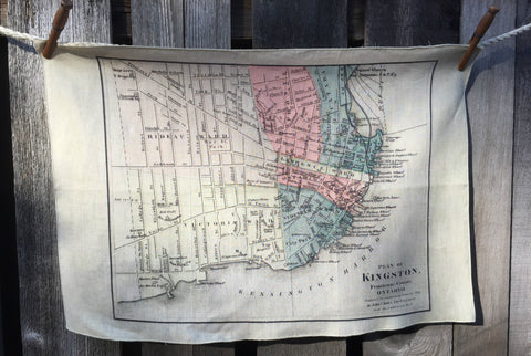 City of Kingston Vintage Map Tea Towel