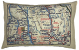 Kootenays Vintage Map Pillow