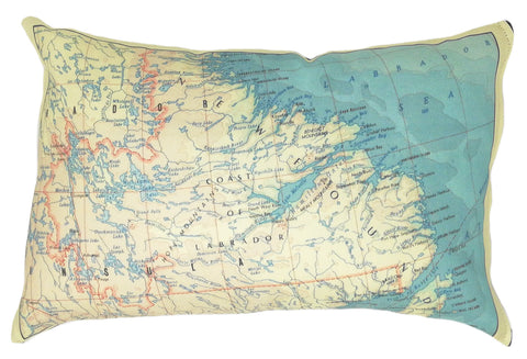 Labrador Vintage Map Pillow