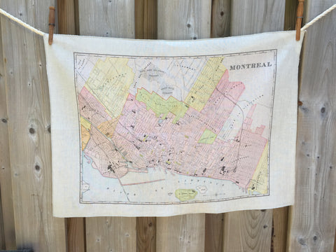City of Montreal Vintage Tea Towel