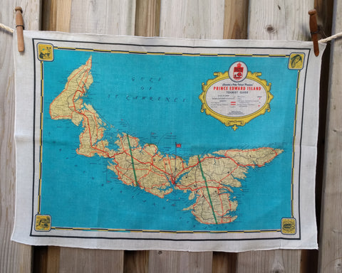 PEI Vintage Map Tea Towel