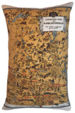 Saskatchewan Vintage Map Pillow