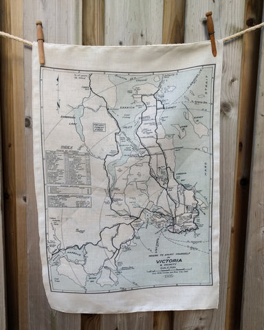 Victoria Vintage Map Tea Towel