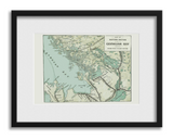 Framed Vintage Map - Free Shipping