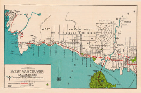 West Vancouver Island Vintage Tea Towel