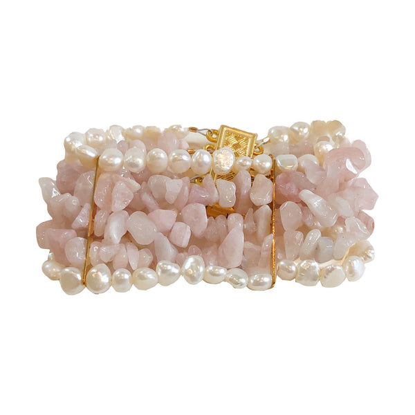 Antibes Pearl and pink quartz