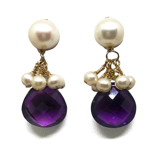 Audrey drops in amethyst