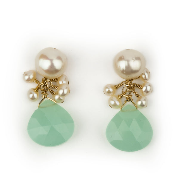 Audrey drops in seafoam