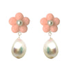 Bloom pearl drops in soft peach