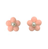 Bloom studs in soft peach