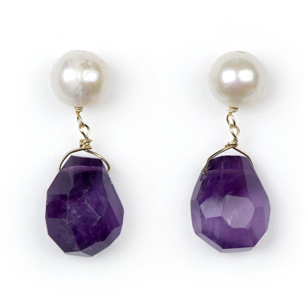 Capri drops in amethyst