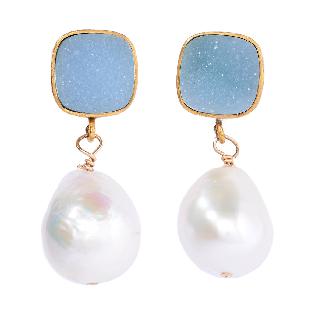Caroline's druzy drop in blue