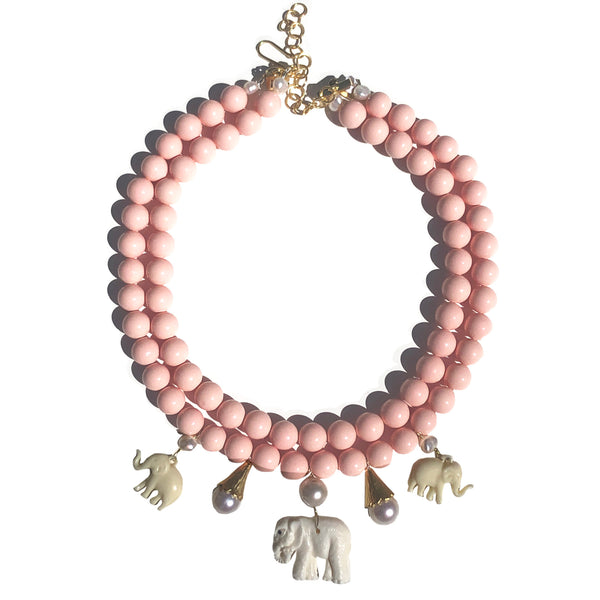 Celeste the elephant in blush pink