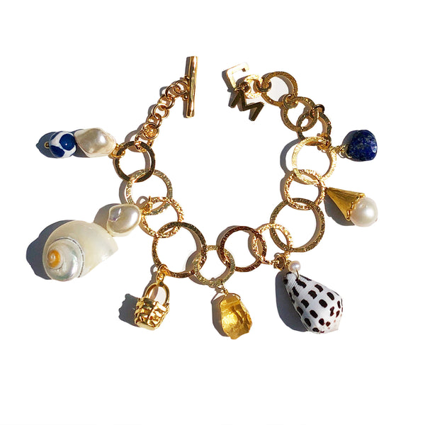 Charm bracelet in navy neutral