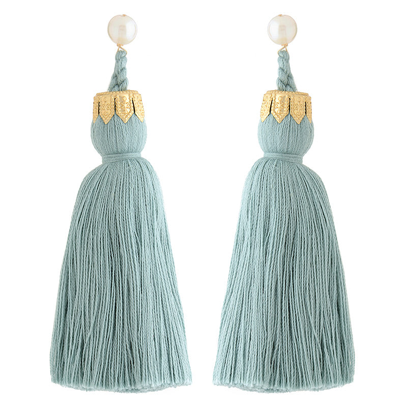 Contessa tassels in dusty blue