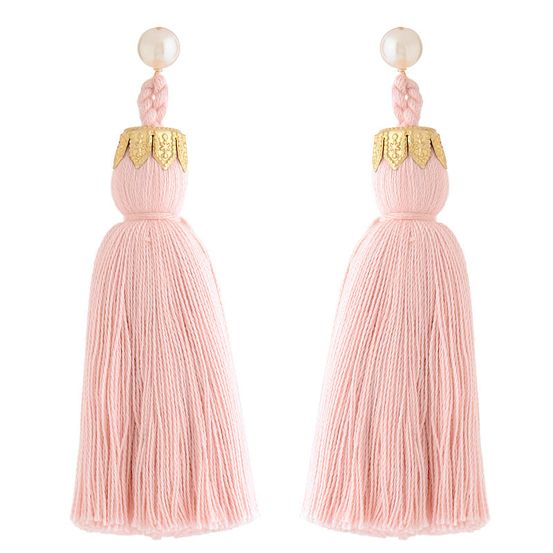 Contessa tassels in blush pink