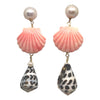 Happy Day dangles in coral & brown