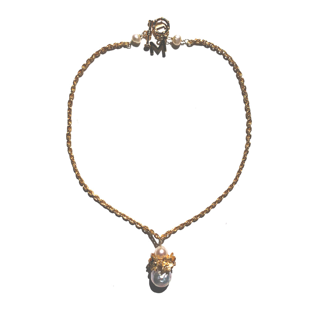 Grayson pearl drop necklace