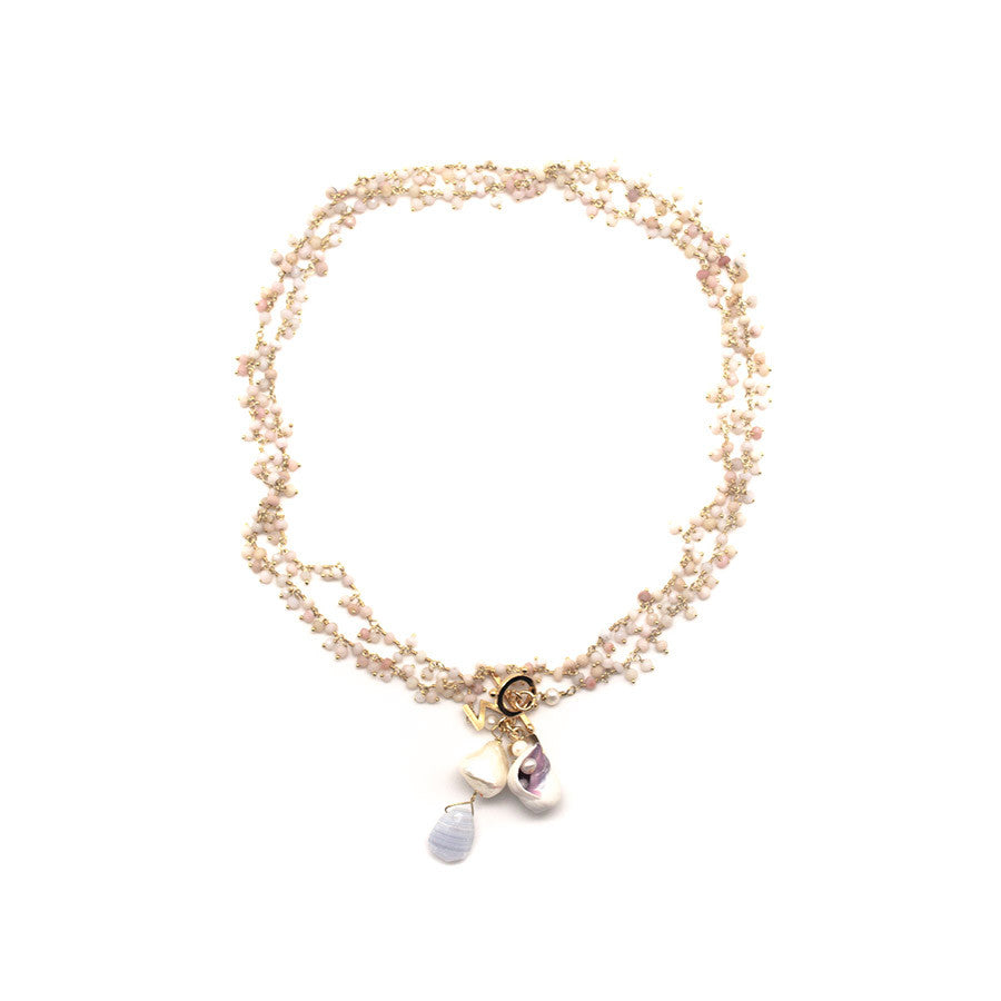 Greenwich Pink Opal Necklace