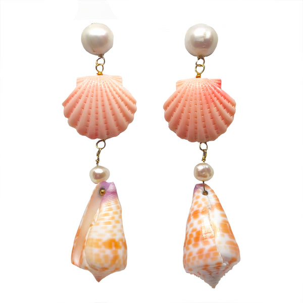 Happy Day dangles in coral & pink