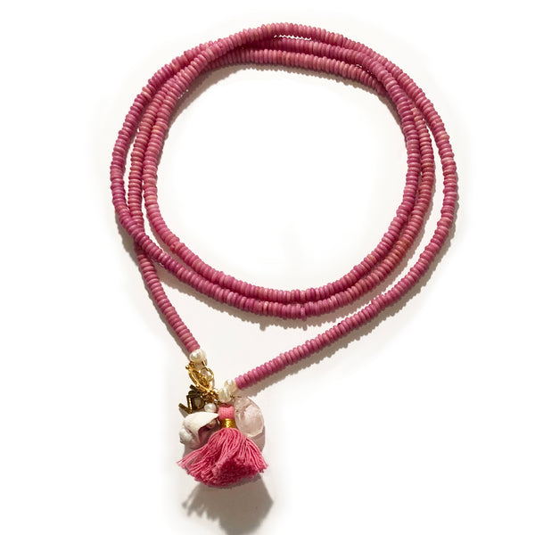 Ibiza necklace in pink