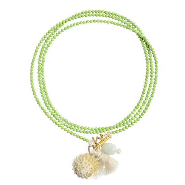 Ibiza necklace in lime