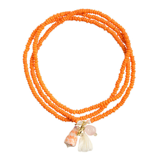 Ibiza necklace in orange
