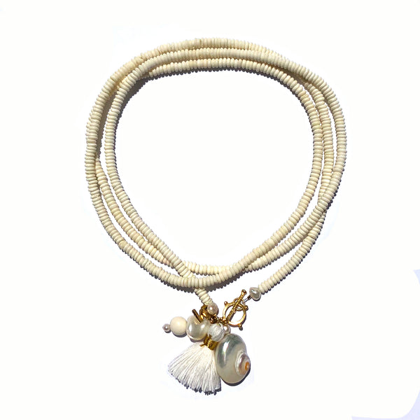 Ibiza necklace in white