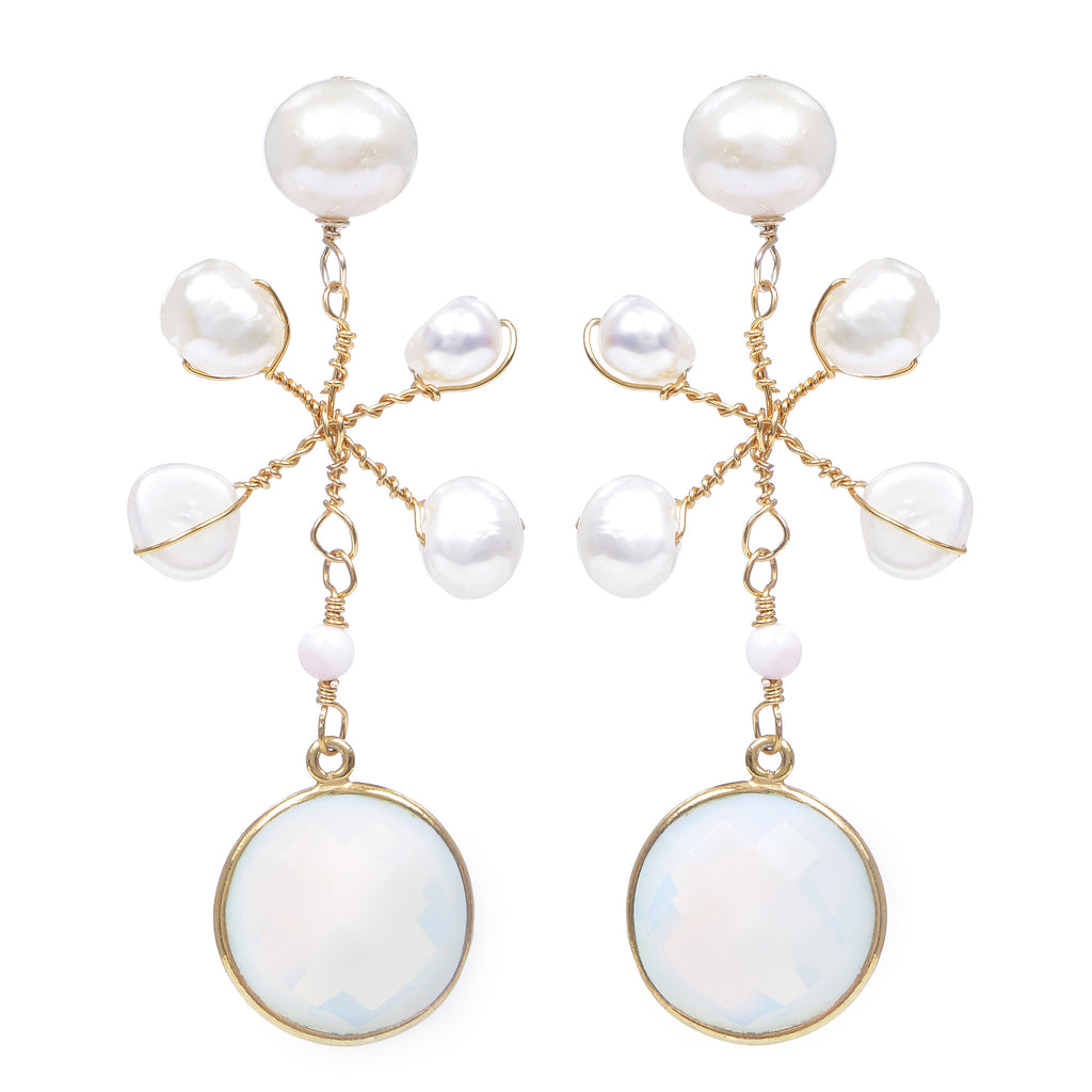 Isabel dangles in opalite