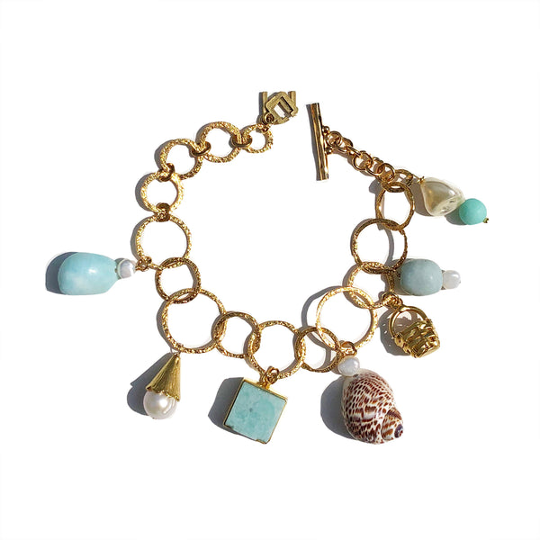 Charm bracelet in soft sea
