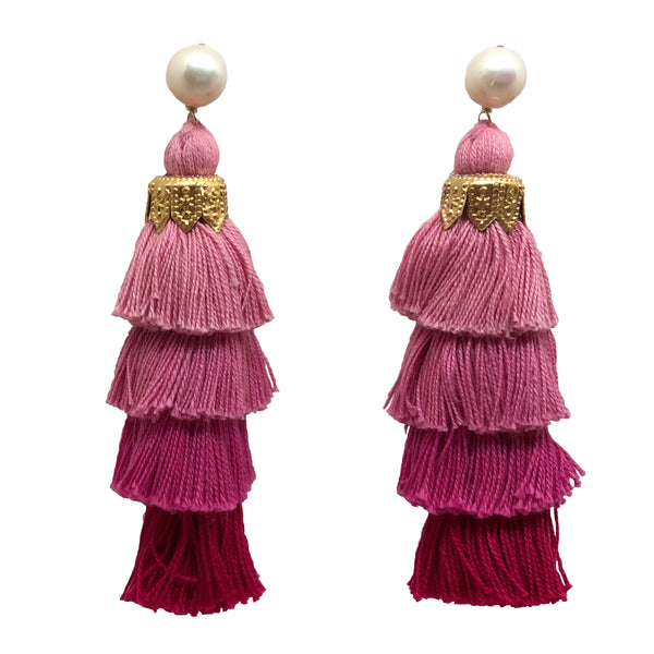 Cha Cha tassels in strawberry