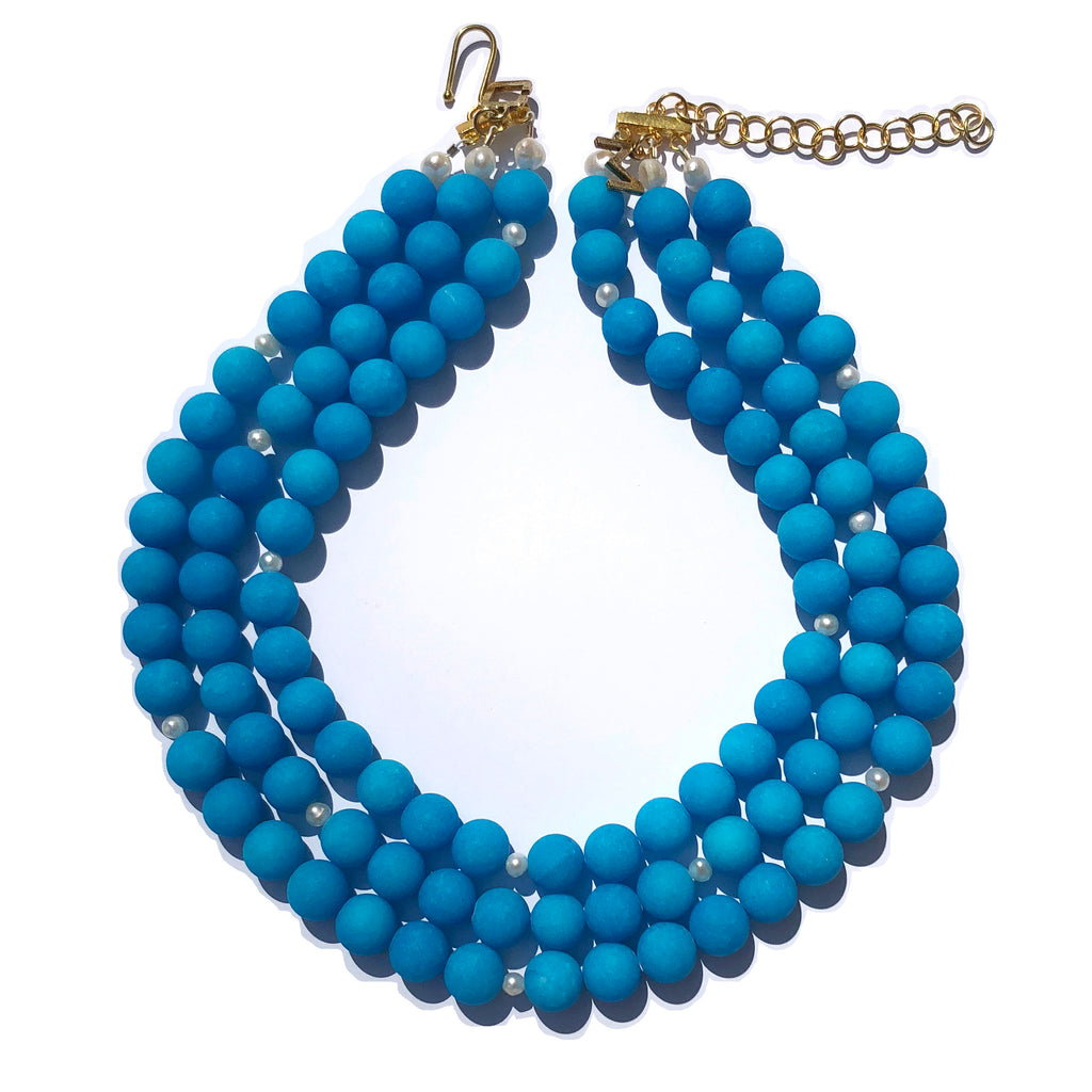 Westminster necklace in brilliant blue