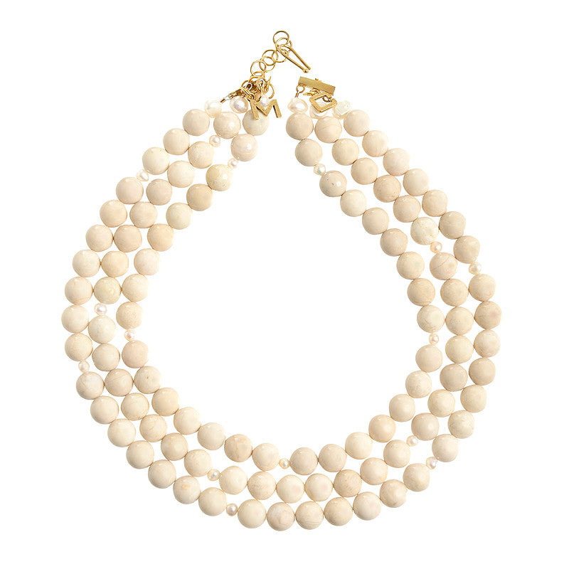 Westminster necklace in beige