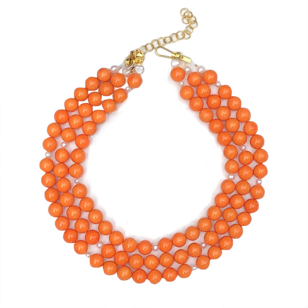 Westminster necklace in orange