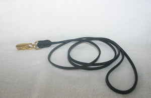 "BDGS - 1/8"" Leash with Brass quick release clasp"