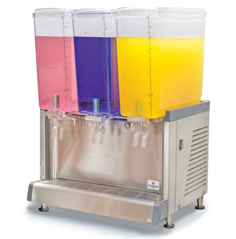 Crathco CS-3L-16 triple beverage dispenser