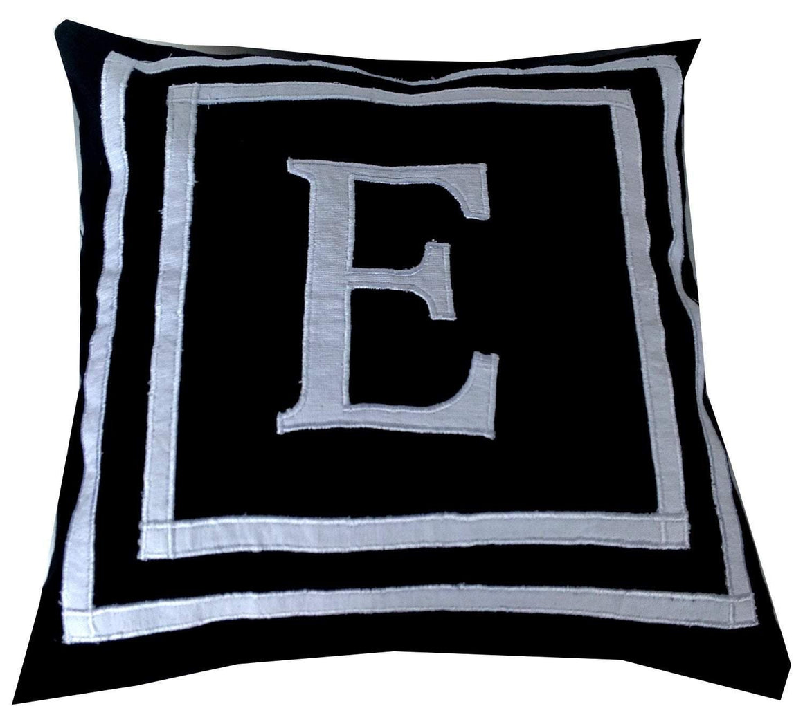 30% OFF Letter Pillows, Monogram Pillows, Black Throw Pillow Covers, Monogram covers, Dorm Pillow Cover - Snazzy Living