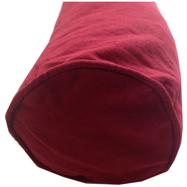 Maroon Bolster Pillows