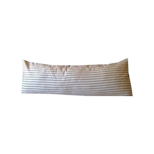 Long Body Striped Body Pillows, Neutral Pillow Cover (20x54)
