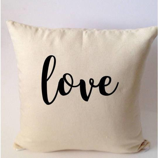 Wife Gift, Love Pillow , Valentine's Day Gift For Wife  2018 , Monogrammed Valentine's Gift, Bed Pillow, Bedroom Decor, - Snazzy Living