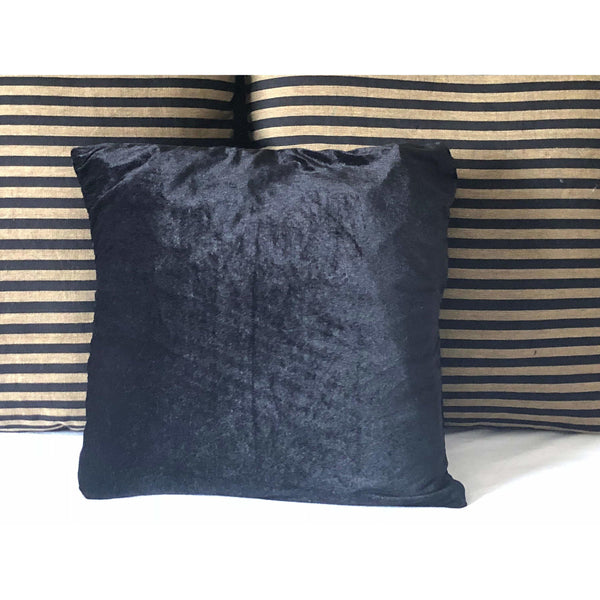 Black Velvet Pillow covers, Velvet sofa pillow cover, Velvet bed pillow cover