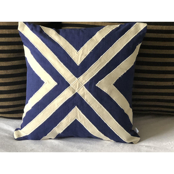 Blue Unique Pillows, Ivory Embroidered Pillows, House Warming Gift, Home Decor, Sofa pillow covers, Gift pillow cover
