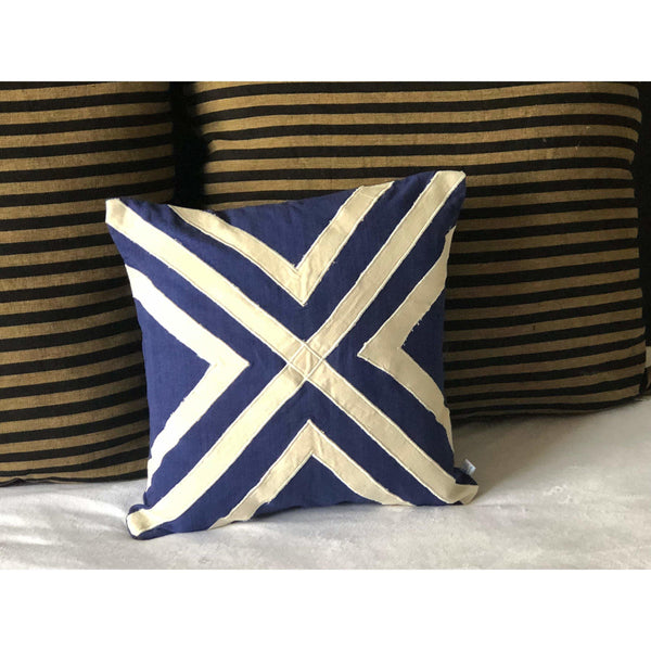 Blue Abstract Unique Throw Pillows