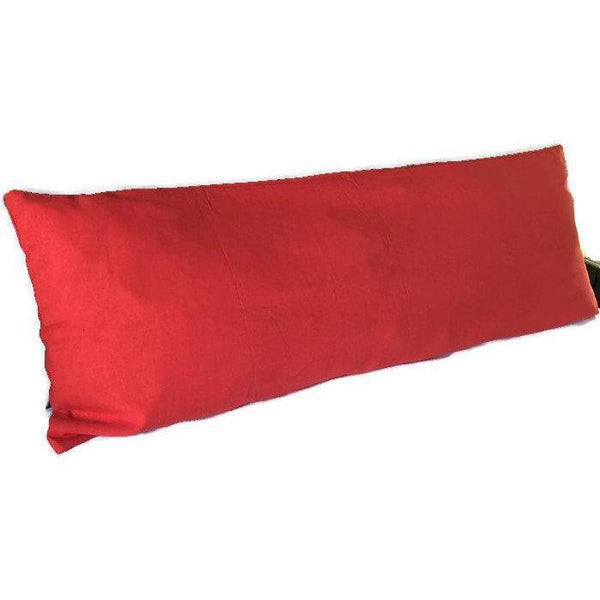Red Long Body Pillow Cover 20 x 54