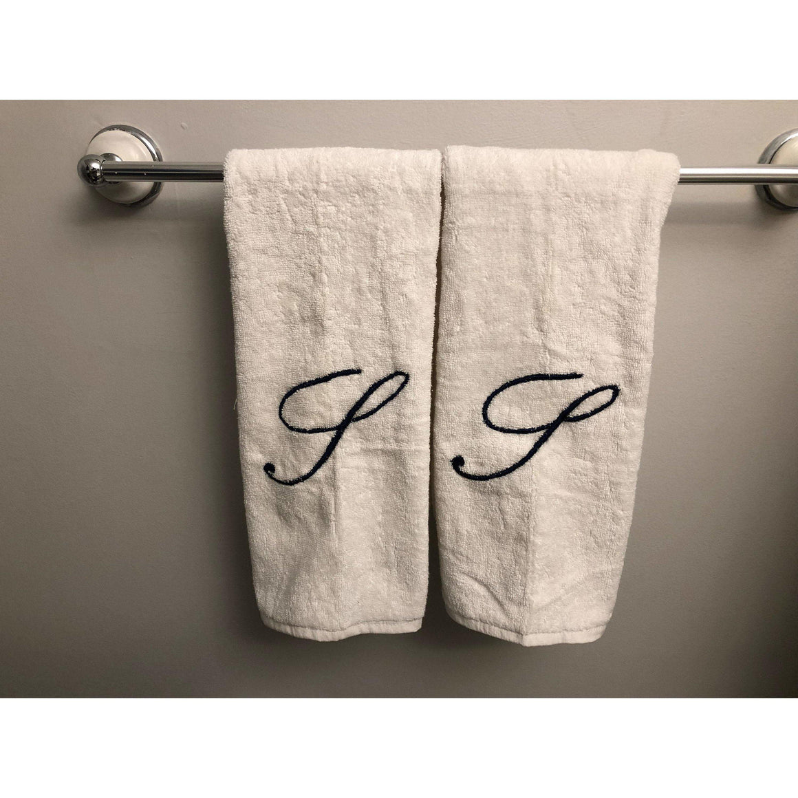 Letter Face Towel, Cotton Luxury Face Towel, Personalized Letter 16x20 Towel Set,  For Bathroom, Kitchen and Spa