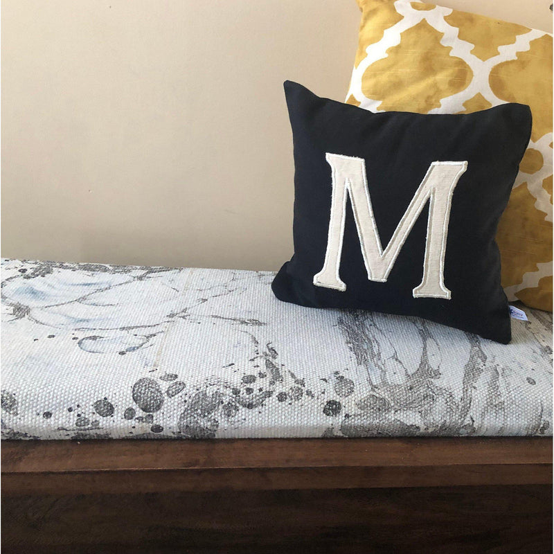 30% Off Letter Sham Pillow Covers, 12x12 Letter Personalized gift for her, Large Customized Monogram throw pillow