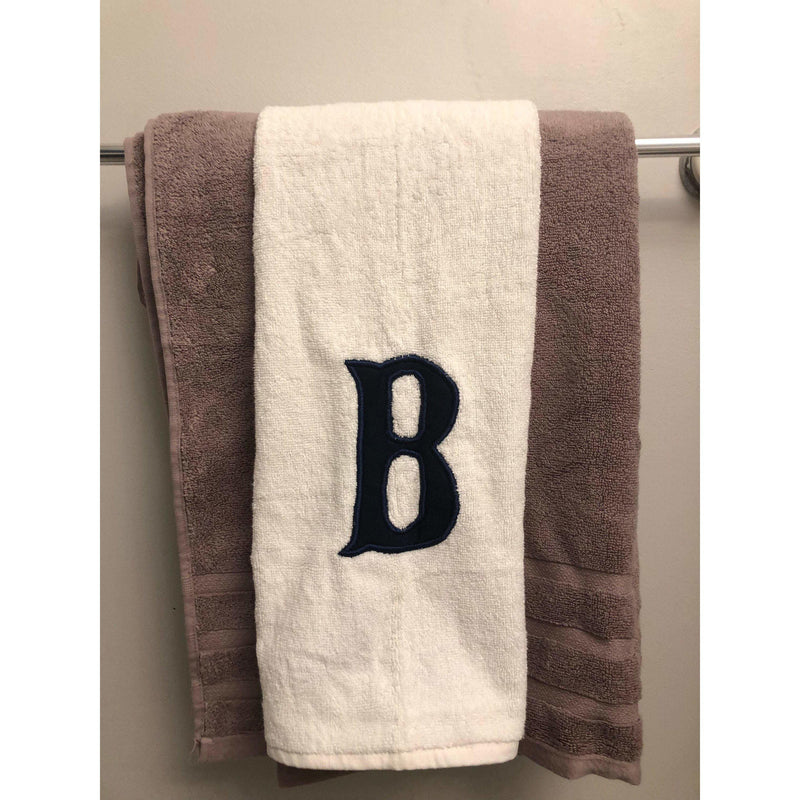 Monogram Applique Face Towel, Cotton Appliqued Towel