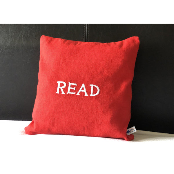 Read Pillows, Nursery Pillows, Baby Gifts, Word Pillows
